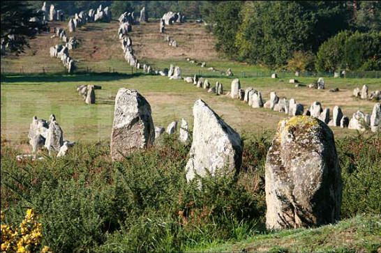 With over 3,000 prehistoric standing stones, Carnac (in Brittany, France) is the largest megalithic site in the world. More pictures of this place in the photobank section. © Jean-Michel PRIMA 2010.