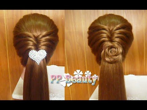 Pancaked Knott Braid Hairstyle / Hair Tutorial / HairGlamour - YouTube