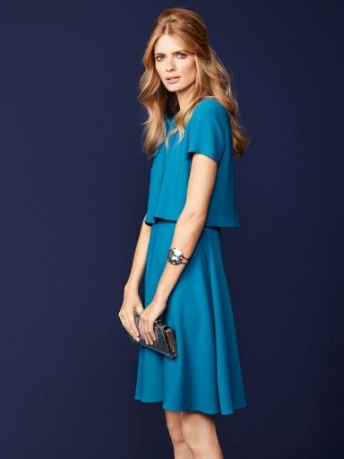 hugo boss kleid blau dicenda minikleid mode inspiration kleider