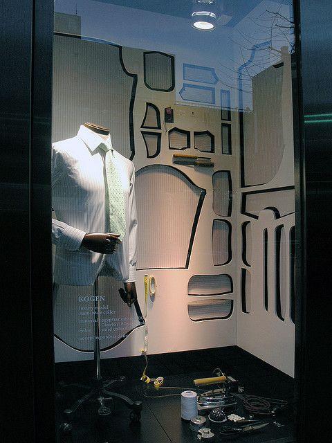white crisp business shirt, pinned by Ton van der Veer