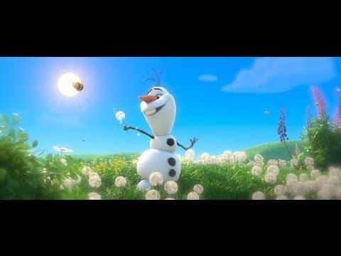 "Brain Break Time - Frozen ""In Summer"" Song - Sing-a-long with Olaf (lyrics across the bottom of the screen) - Official"