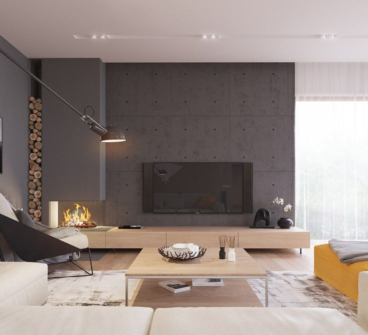 A sleek and surprising interior inspired by scandinavian modernism design sticker
