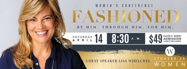 Ladies, we often wear many hats, causing us to feel stretched thin, worn out, and empty. Re-focus and re-charge at Fashioned on April 14! Through inspiring words from Lisa Whelchel, lunch together, and your choice of breakout sessions, you will find joy in your identity as a woman fashioned by our God. Sign up today for early bird pricing.