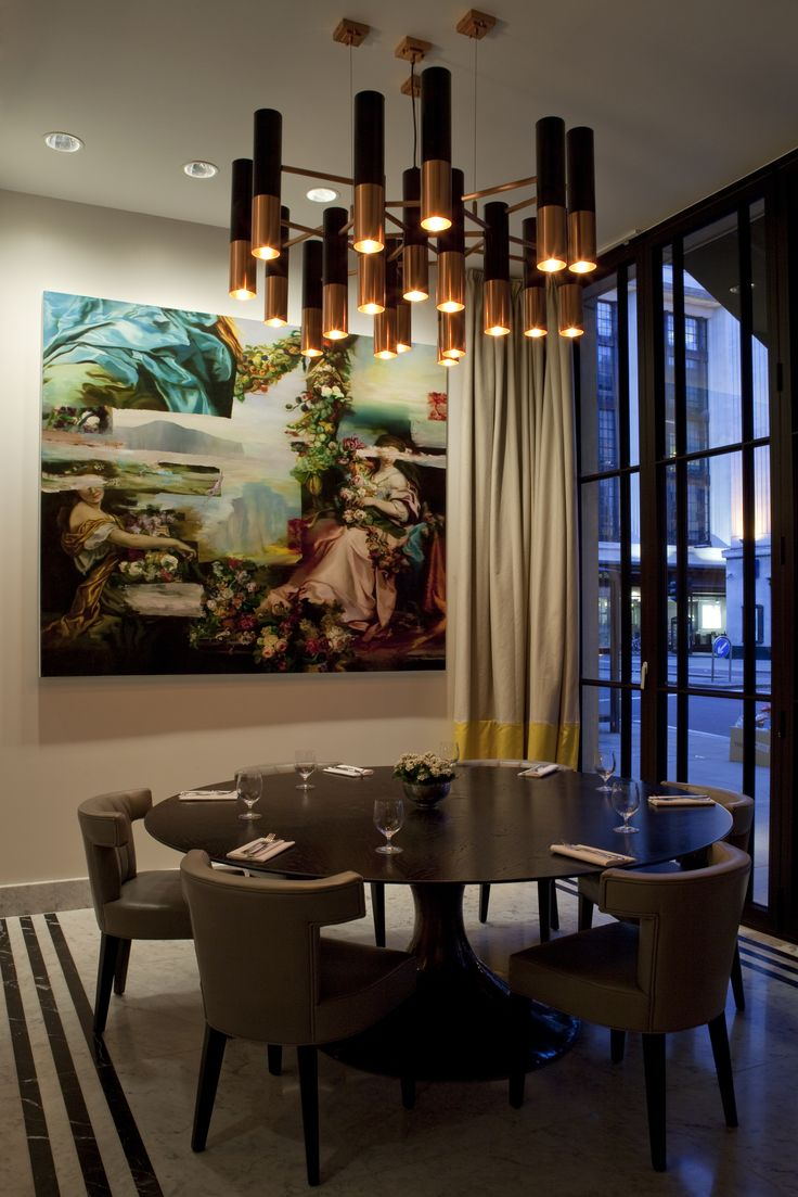 Bespoke chandelier designed by into lighting for the Pavilion Restaurant,  London