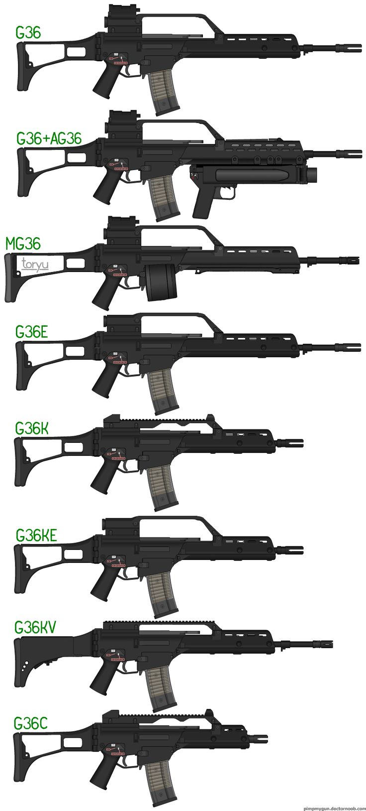H&k G36 Assault Rifle Variants