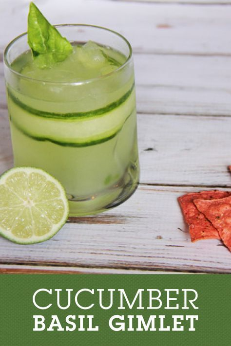Cucumber Basil Gimlet is the perfect fresh spring cocktail. Bonus: only 4 ingredients are needed to make this beautiful beverage.