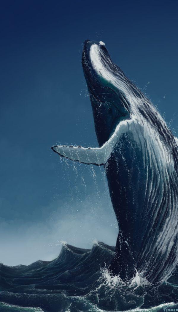 A baleia é a mãe primordial, a fêmea, a caverna. Traz em seu simbolismo a escuridão abissal e misteriosa do mar: o inconsciente. No mito do herói, a baleia é a Grande-Mãe devoradora em cujo ventre o deus-herói se transforma.