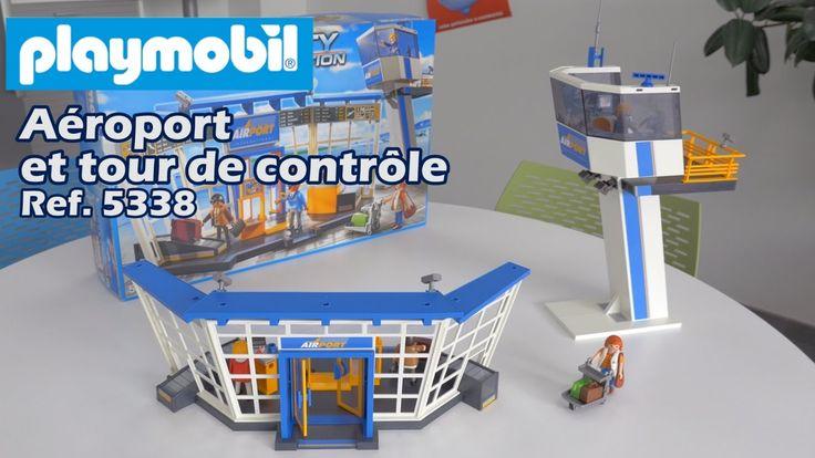 Playmobil aéroport et tour de contrôle (5338) - Nouveauté 2017 City Action
