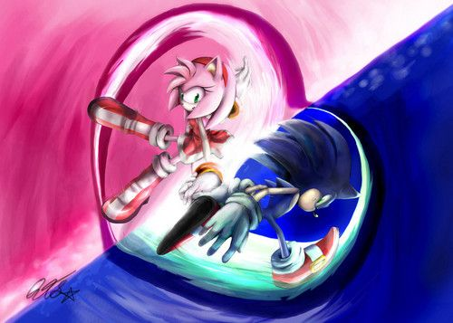.:Sonic and Amy:. - sonic-and-amy Fan Art