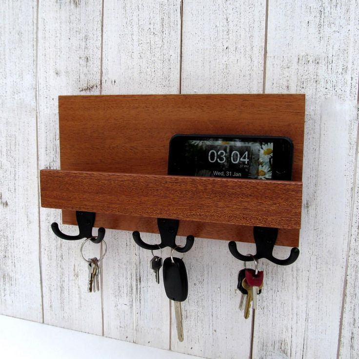 Excited to share the latest addition to my #etsy shop: Mail and key holder for wall, wooden key rack with shelf, entryway organizer, key storage, leash hanger, mail organizer, key hook rack. http://etsy.me/2EwhgqE #furniture #storage #housewarming #valentinesday #metalhooks  #keyrack #keyholder #woodkeyrack #entrywayorganizer #moderndecor #walldecor #letterholder #mailrack #mahogany