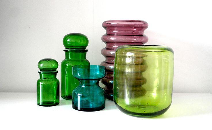Colorful retro glass