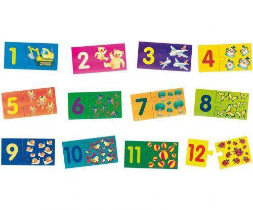 Παζλ Αριθμοί 1-12/ Puzzle Numbers 1-12