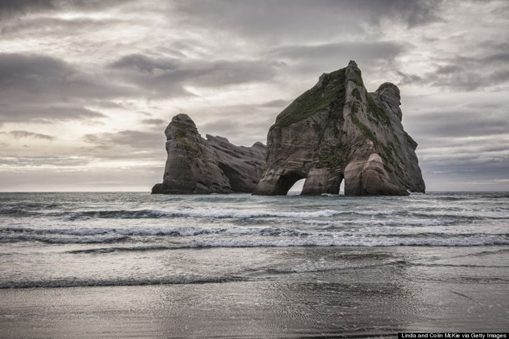 wharariki beach, New Zealand. Defininte overtones of LOTR.
