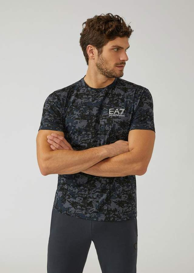 f11eddb1df Ea7 Cotton T-Shirt With Camouflage Pattern | Rugged Rascal - The ...