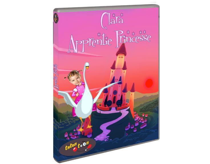 Votre fille rêve d'être princesse, vœu exaucé dans le dessin animé personnalisé Tatontoon. Un cadeau d'anniversaire original pour les petites filles. #cadeaufilleanniversaire #cadeaufilleoriginal