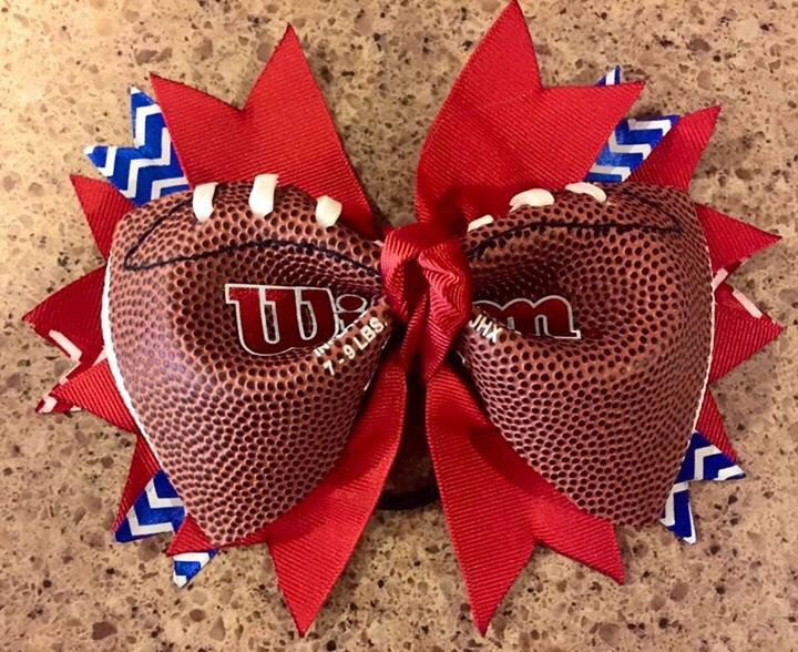 A personal favorite from my Etsy shop https://www.etsy.com/listing/243439531/stocking-stuffer-football-cheer-hair-bow