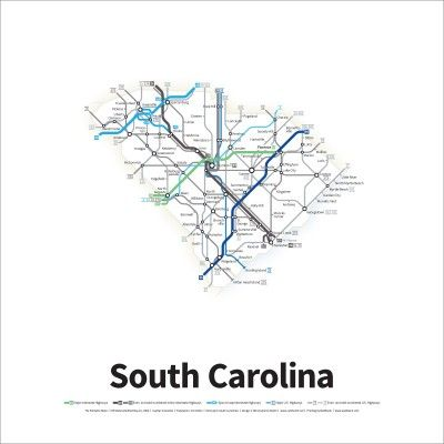 Best Maps Images On Pinterest In Style Map Projects And Road Maps - Us road map poster