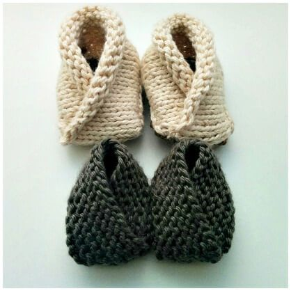 c2adcefe2589 Crossover Baby Booties FREE Knitting Pattern