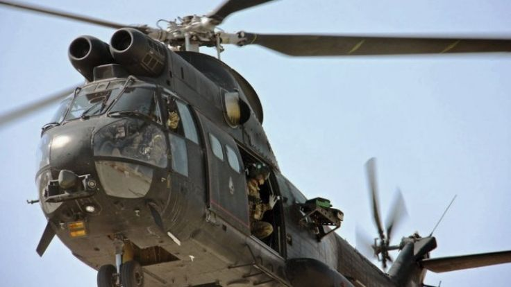 Royal Air Force (RAF) Westland/Aerospatiale SA 330E Puma HC2 medium transport helicopter