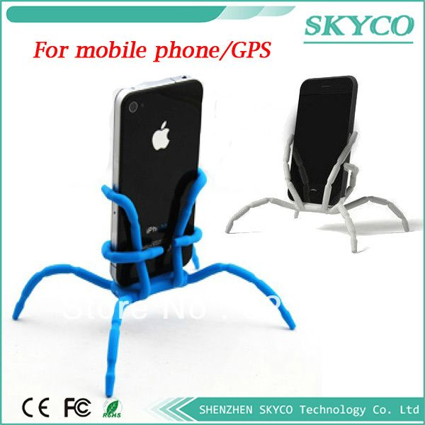 Magical universal spider,Octopus bracket,for iPhone,camera/phone GPS,holder bicycle frame Flexible Camera Tripod,milo for iphone $4.80