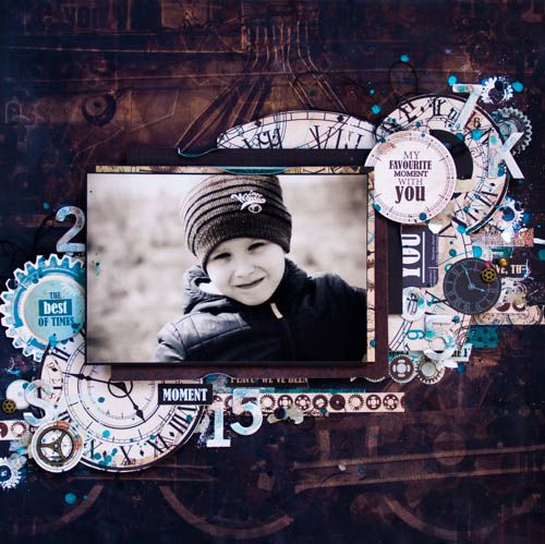 'Best of Times' layouts by Evgenia K. using August 'Time Machine' collection ~ Wendy Schultz ~ Kids Layouts.