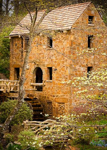 """The Old Mill, Arkansas, North Little Rock, Arkansas.  Shown during the opening credits of """"Gone with the Wind"""""""