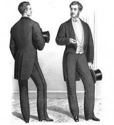 Мужской костюм в конце 19 веке