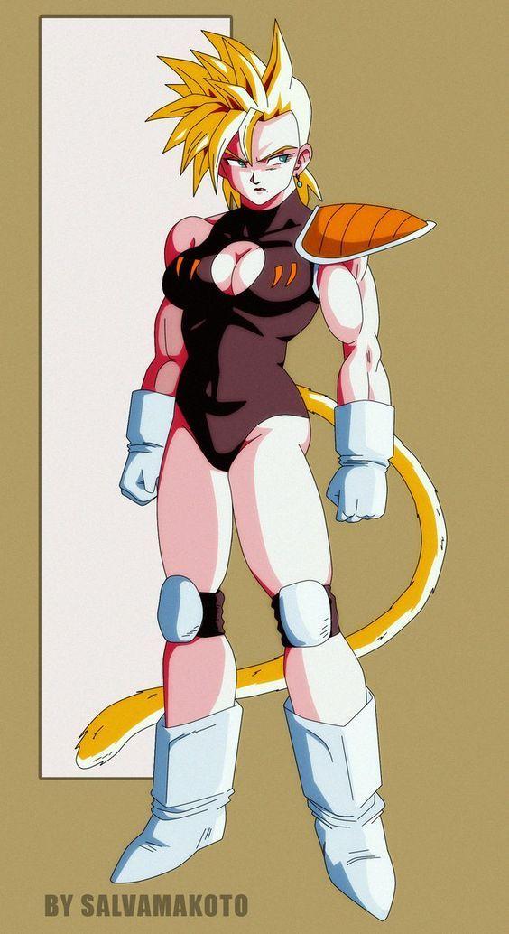 Aqui esta una imagen de como seria la hermana de goku en la pelicula prohibida espero les guste