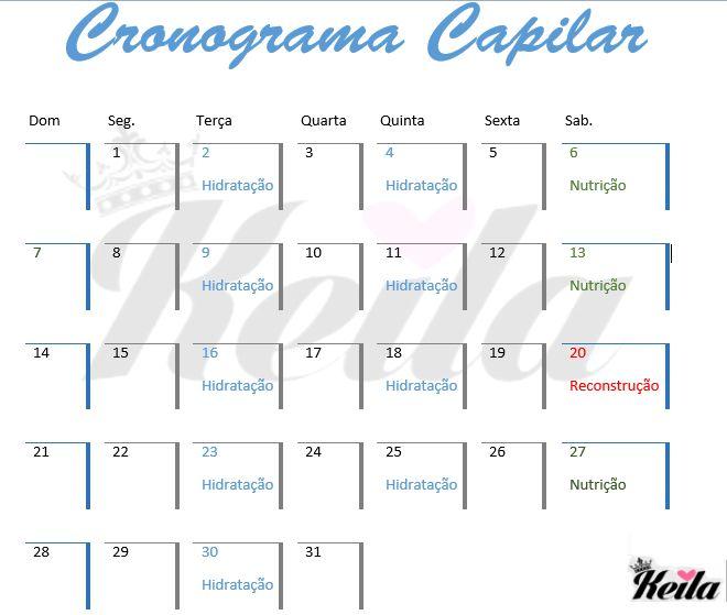 Cronograma Capilar - let's do it!