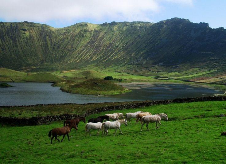 Caldeirão, ilha do Corvo, Açores - Portugal - Foto: Jose´Carreiro