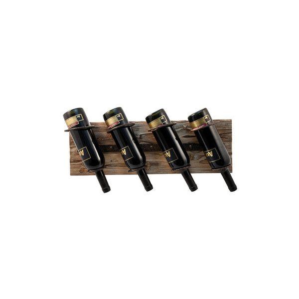 Wine Rack Rustic Farmhouse Wood and Metal Wine Rack ❤ liked on Polyvore featuring home, kitchen & dining, bar tools, wooden wine racks, wood wine rack and metal wine racks