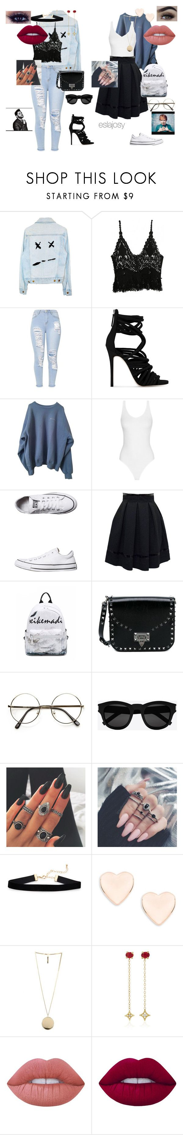 """The Weeknd Ft. Ed Sheeran"" by eslajosy ❤ liked on Polyvore featuring WithChic, Giuseppe Zanotti, Converse, Valentino, Yves Saint Laurent, Ted Baker, Givenchy, Jordan Alexander and Lime Crime"