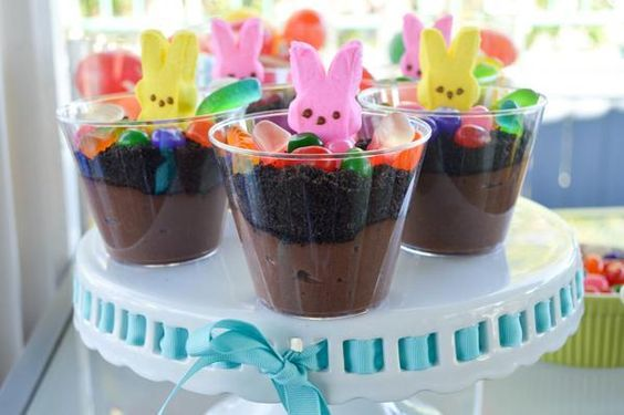 Make your own special Peep treats with a DIY Dirt Pudding Bar!