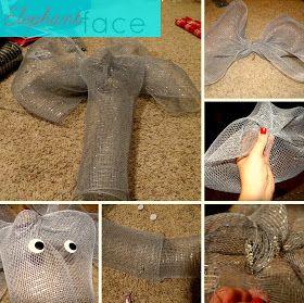 Creating Sunshine: DIY Alabama deco mesh wreath with elephant