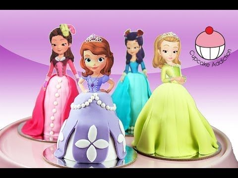 PRINCESS CUPCAKES - Make Sofia the First Mini Disney Cakes - Learn how to make these delicious treats, and heaps more at Mycupcakeaddiction!