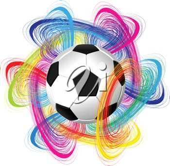iCLIPART - Royalty Free Clipart Illustration of a Vector Soccer Ball