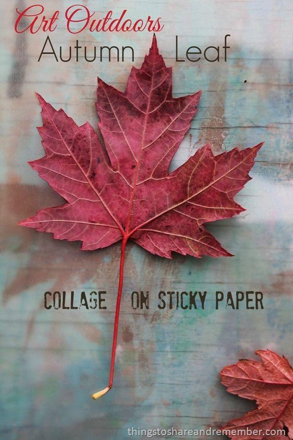 Outdoor Art: Autumn Leaf Collage