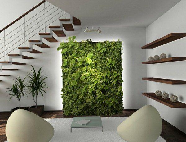 appartement avec un mur végétal