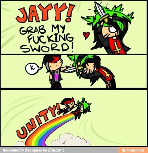 BOTDF so cute!!! jayy vom monroe dahvie vanity rainbow funny