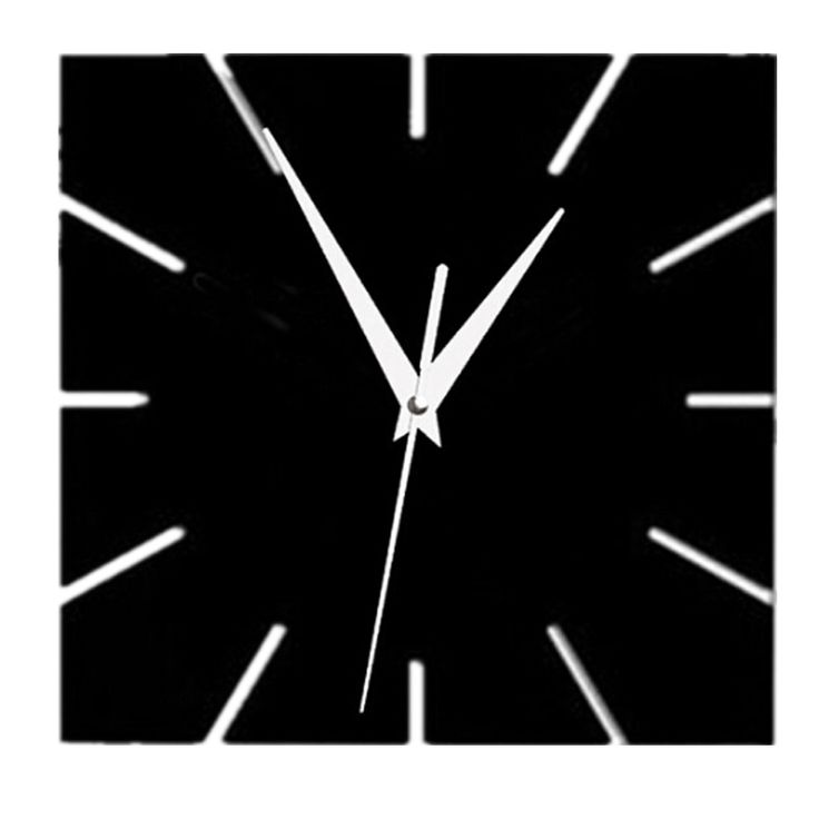 2016 hot sale acrylic mirror wall clock modern design clocks reloj de pared watch living room needle europe home vintage horloge