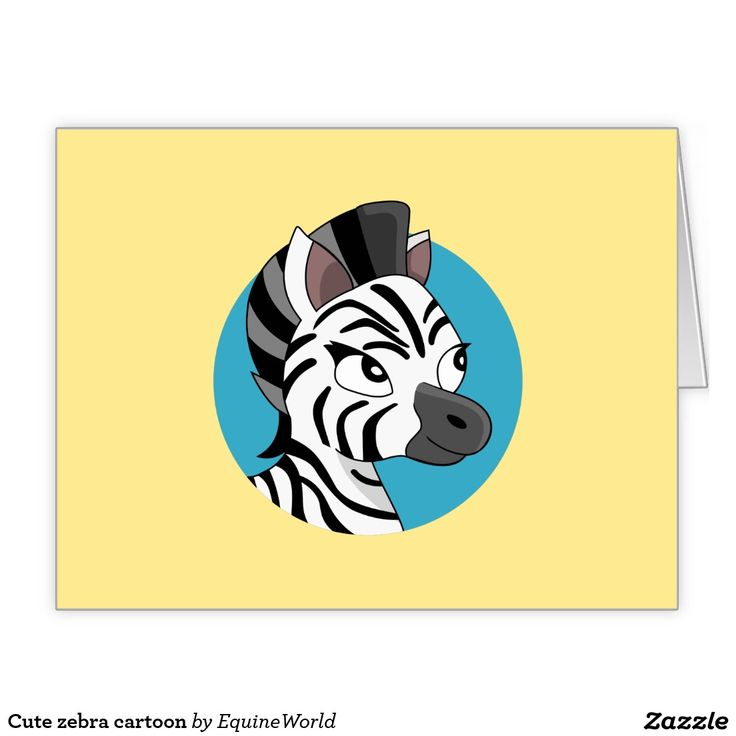 Cute zebra cartoon large greeting card
