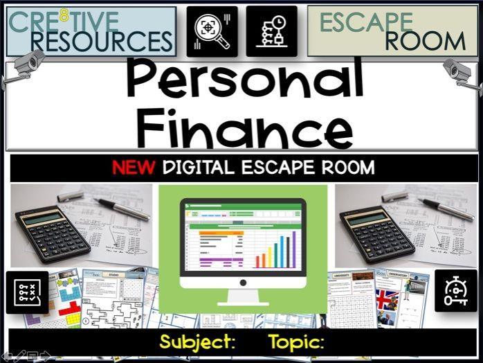 Personal Finance - Escape Room | Financial literacy ...