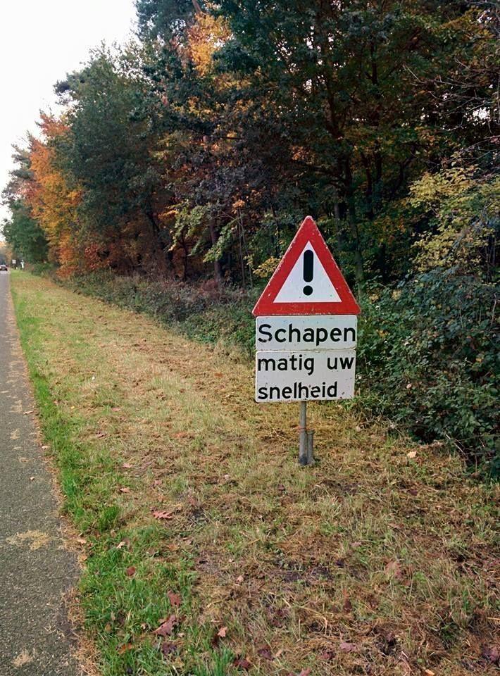 Meer grappige verkeersborden vind je op Taalvoutjes.nl.