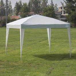 Easy Pop Up Canopy Tent 10 x 10-Feet, Instant Shelter Portable Camping w/ Carrying Bag - Silver