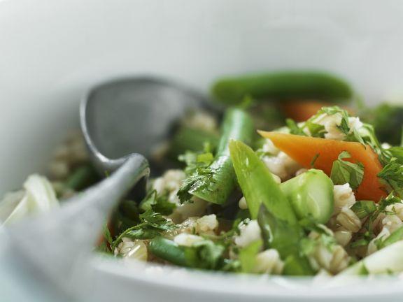 Zarter Weizensalat mit gemischtem Gemüse ist ein Rezept mit frischen Zutaten aus der Kategorie Getreide. Probieren Sie dieses und weitere Rezepte von EAT SMARTER!