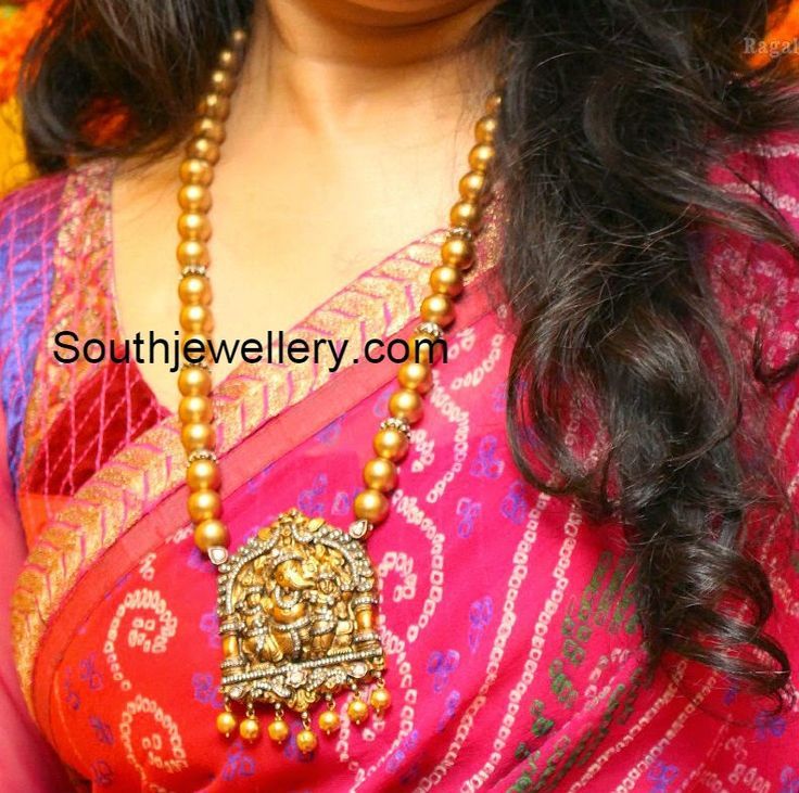 South sea Pearls Mala with Ganesh Pendant