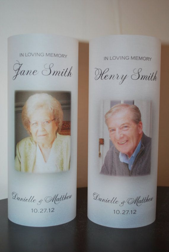 In Loving Memory Wedding Vellum Luminary. Would like to do this for the grandparents that have passed.
