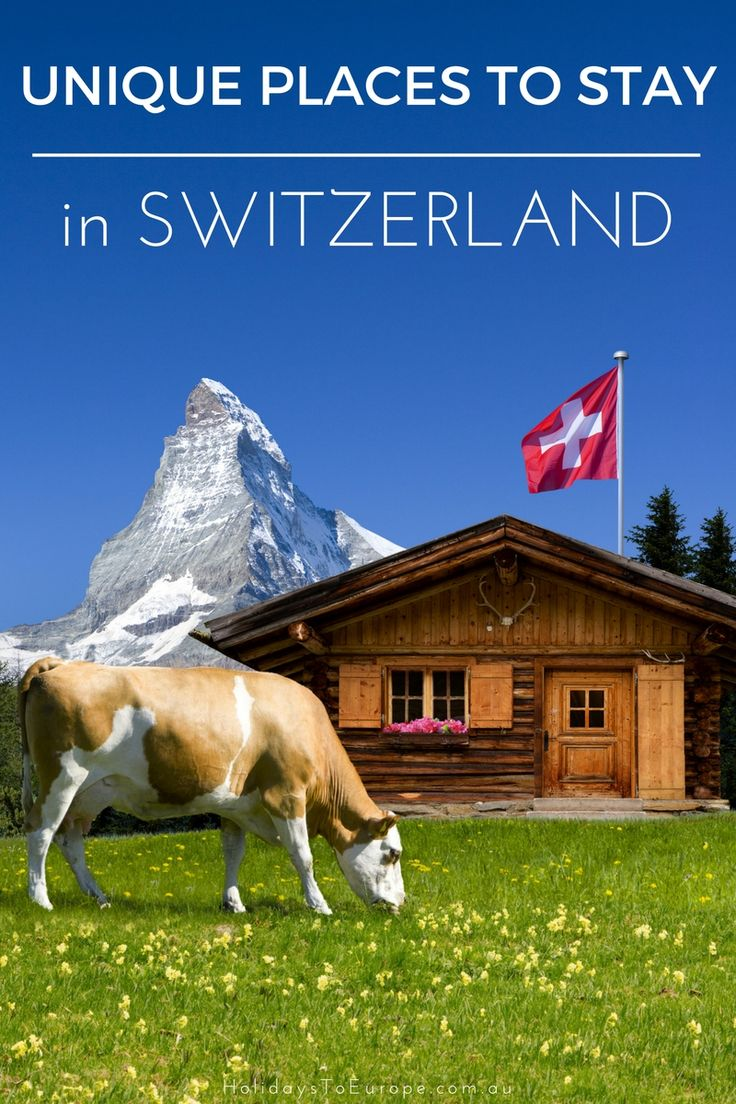 Forget boring hotels! When visiting Switzerland, why not stay in unique accommodation like yurts, teepees and even wine barrels! /  Click the image to find out more about these unique places to stay in Switzerland.