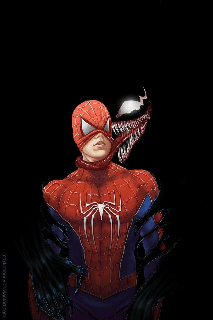 Venom x Spider man by =maXKennedy on deviantART: Spiders Islands, Amazing Spiders Man, Spiders Man Artworks, Maxkennedi Deviantart Com, Comic Books, Amazing Spiderman, Super Heroes, Books Heroes Villian, Marvel Spiderman