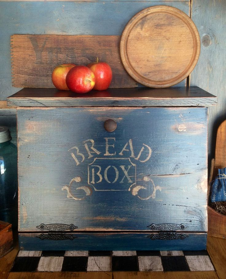 Bread box. $49.00, via Etsy.